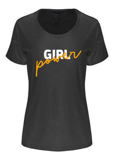 Girl Power Printed Women's Bamboo/Cotton Short Sleeve Scoop Neck T-Shirt - Spun Bamboo