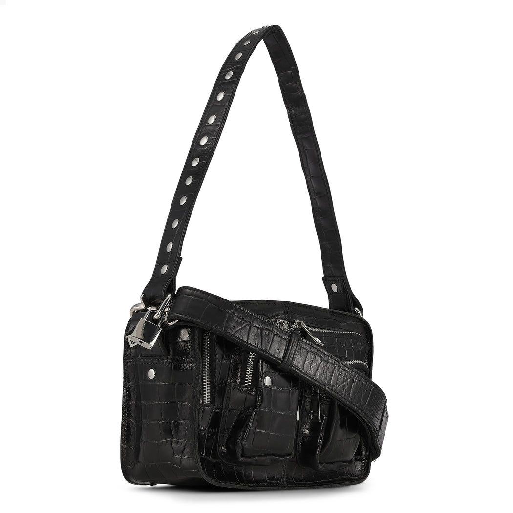 Núnoo Ellie croco black Crossbody Black