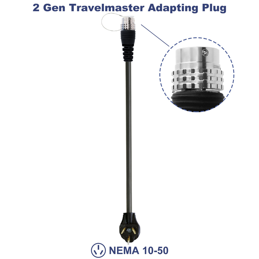 MUSTART - TRAVELMASTER Connector Adapting Plug | GEN 2 | NEMA 10-50 (32A) | 240V | Portable