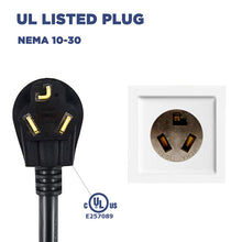 Load image into Gallery viewer, MUSTART - Level 2 EV Charger | 26A | NEMA 10-30 | 240V | 6.24KW | 25FT | Portable | Outdoor Use