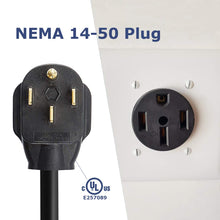 Load image into Gallery viewer, MUSTART - Level 2 EV Charger | 32A | NEMA 14-50 | 240V | 7.68KW | 25FT | Portable | Outdoor Use