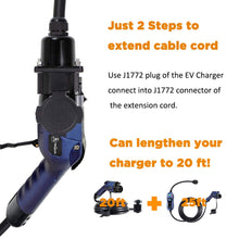 Load image into Gallery viewer, MUSTART 40 Amp 20 Ft J1772 Extension Cord for EV Charging Stations (Update Version)