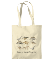 Load image into Gallery viewer, Smash the patriarchy tote bag, Tea Please