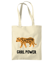 Load image into Gallery viewer, Grrl Power Tiger Girl Power Tote bag