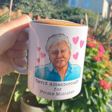 Load image into Gallery viewer, David Attenborough Mug UK