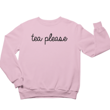 Load image into Gallery viewer, Pink Tea Please Jumper UK Tea Please
