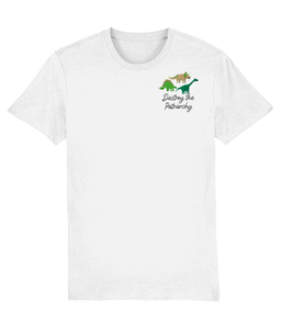 Smash the Patriarchy Embroidered Dinosaur t-shirt