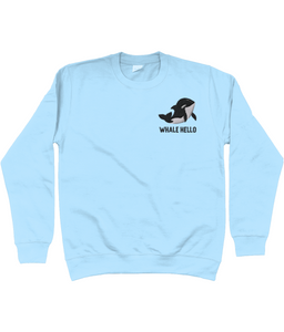 Whale Orca Embroidered Jumper