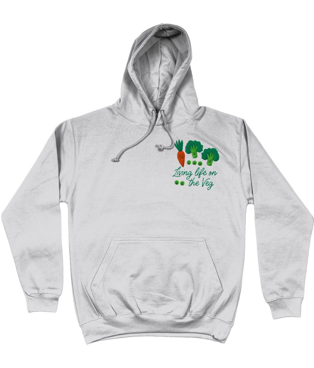 Living life on the Veg Embroidered Hoodie