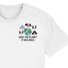 Load image into Gallery viewer, Save the Planet, It has dogs T-shirt