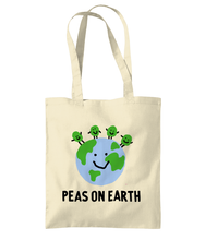 Load image into Gallery viewer, Peas on Earth Tote bag