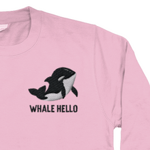 Load image into Gallery viewer, Whale Orca Embroidered Jumper Pink