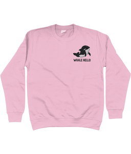 Whale Orca Embroidered Jumper Pink