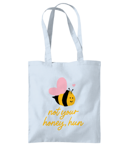 Not your Honey Hun tote bag blue