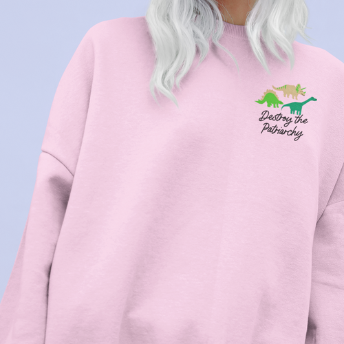 Destroy the Patriarchy Dinosaur UK Jumper