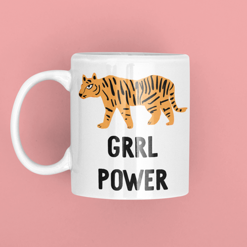 Grrl Power Tiger Girl Power Mug