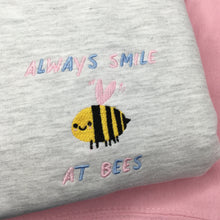 Load image into Gallery viewer, Always smile at bees jumper