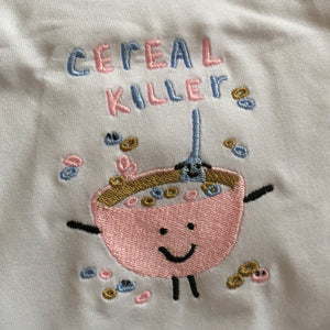 Cereal Killer Embroidered T-shirt