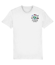 Load image into Gallery viewer, Save the Planet it is the only one with Dogs Embroidered T-shirt