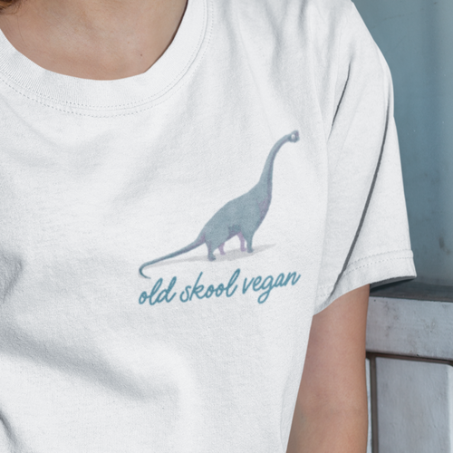 Old skool vegan t-shirt