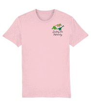 Load image into Gallery viewer, Smash the Patriarchy Embroidered Dinosaur t-shirt