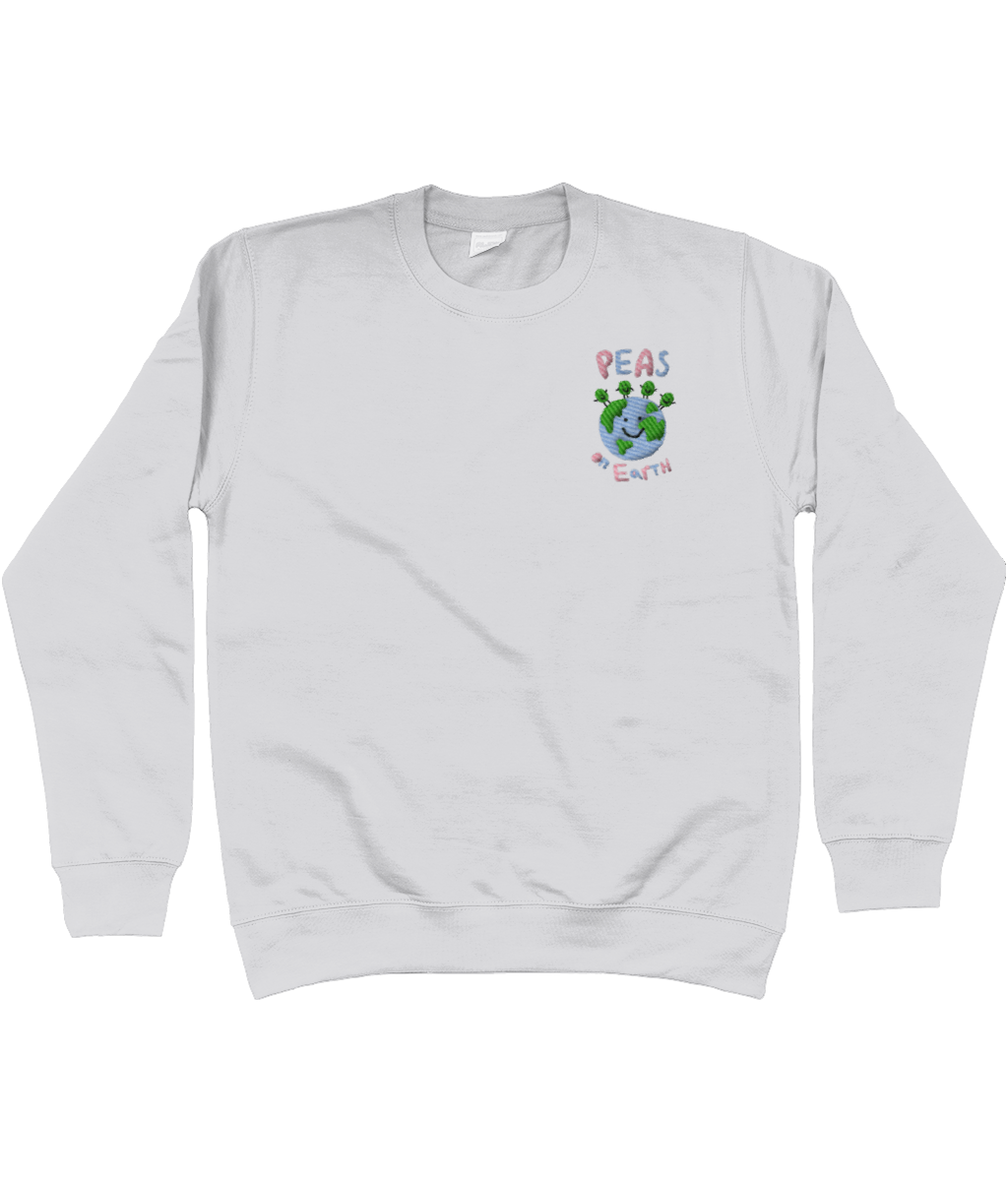 Peas on Earth Embroidered Apparel