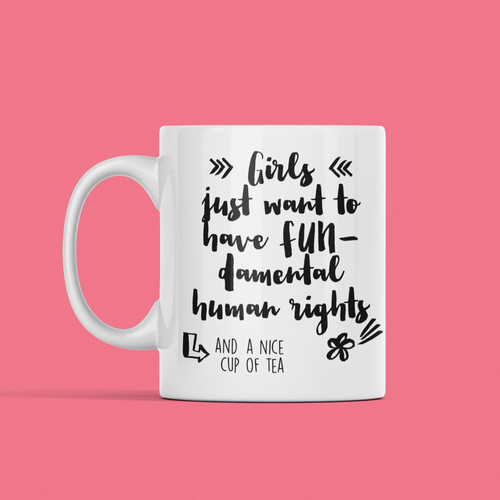 Fundamental human rights mug