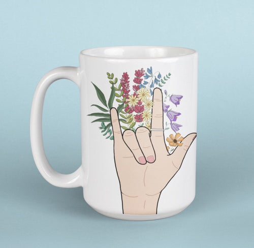 Sign language love mug