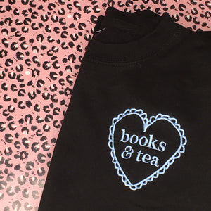 Books & Tea Embroidered Jumper