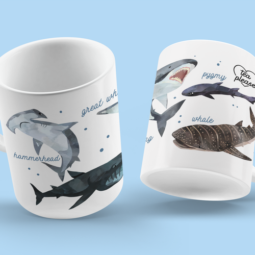 Shark Mug UK Tea Please
