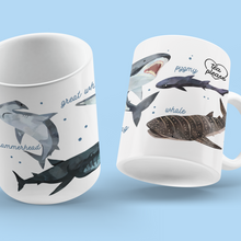 Load image into Gallery viewer, Shark Coffee Mug UK Tea Please