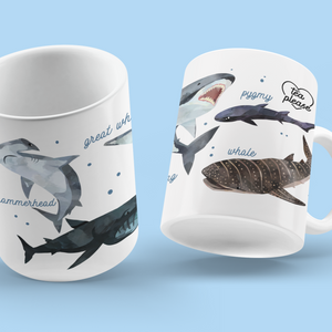 Shark Coffee Mug UK Tea Please
