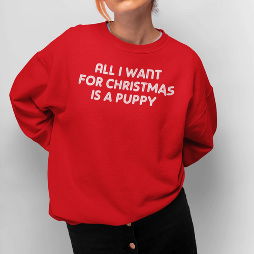 All I want for Christmas is a Puppy Christmas jumper