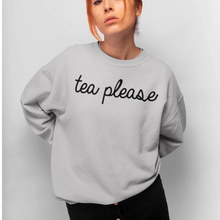 Load image into Gallery viewer, Tea Please Grey Jumper