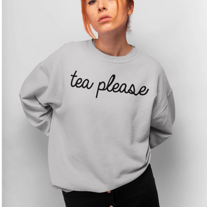 Tea Please Grey Jumper