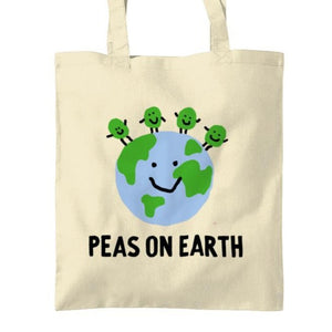 Peas on Earth Tote bag Tea Please Cotton
