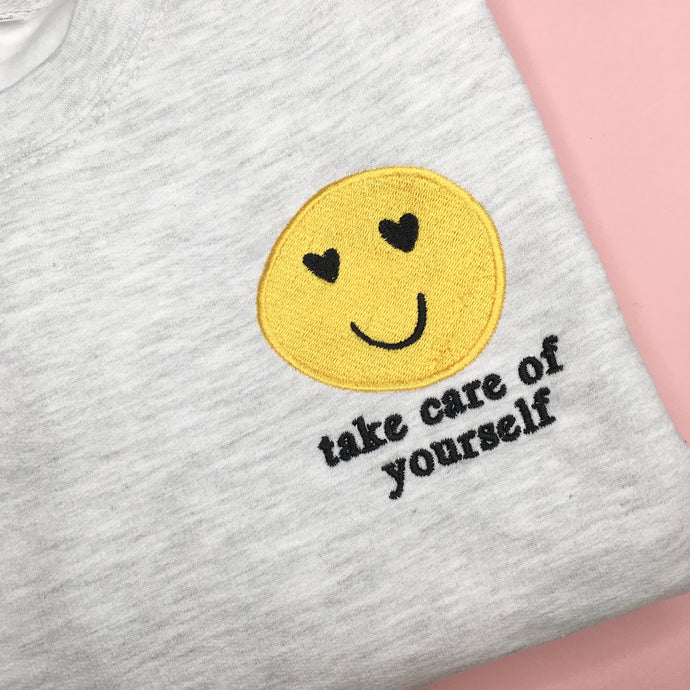 Take care of yourself Embroidered Jumper