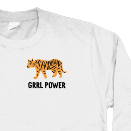 Girl Power Tiger jumper