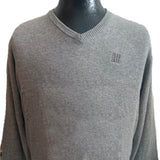 V-Neck Sweater, Heather Grey