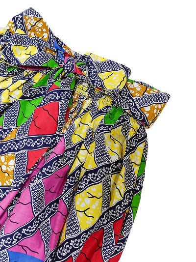 Traditional African Wax Print Ankara Fabric Clothes Maxi Skirt For Women Dressing