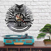 Owl Design Vintage Art Vinyl Record Wall Clock
