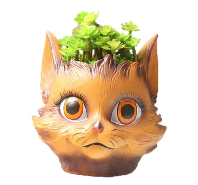 Nordic Animal Face Flower Pot Retro Planter