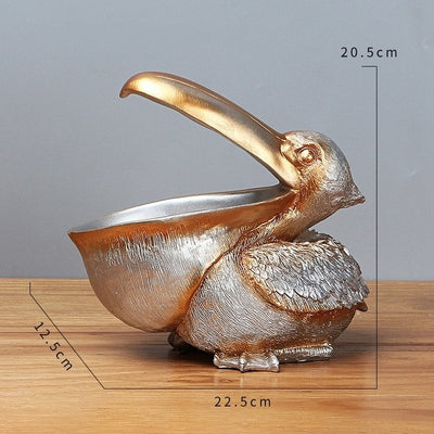 Resin Art Pelican Figurines Funny Gift Accessories Storage