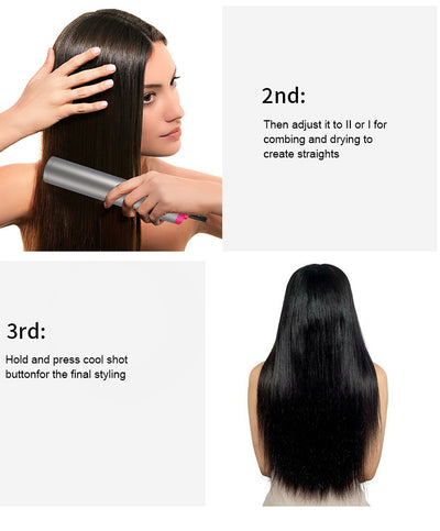 Professional One Step Hair Dryer And Straightening styling comb