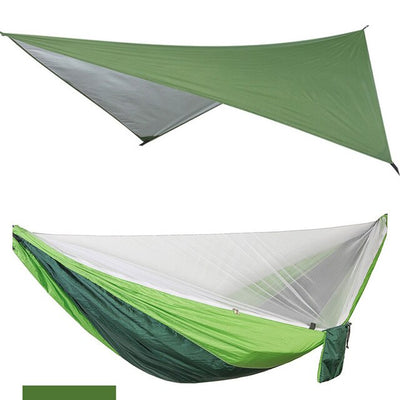 Camping Hammock  Mosquito Net with Waterproof Rain Fly Tent