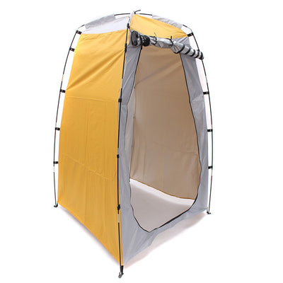Portable Outdoor Changing Fitting Room Camping Yellow Shower Bath Tent