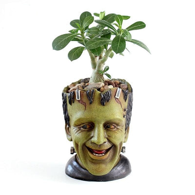 FRANKENSTEIN Resin Flower Pot Art Decoration Head Planter