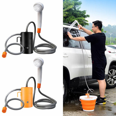 Electric Portable Rechargeable Battery Bathing Pump Outdoor Camping Shower