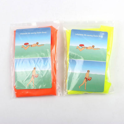PVC Safety Buoy Float Air Dry Inflatable Bag For Swimming