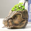 Pastoral Art Tyrannosaurus Head Resin Flower Pot  Planter